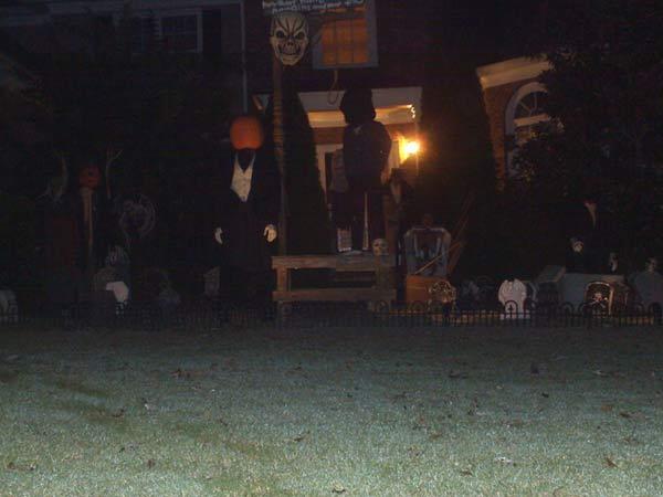 Haunted Halloween Scene At Night