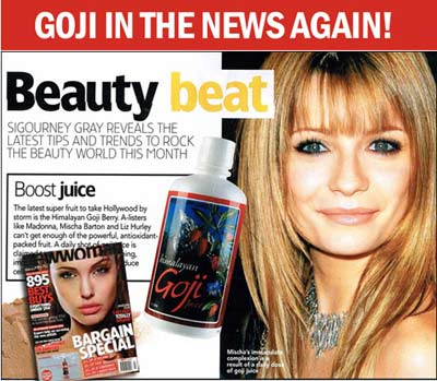 goji juice and berry and Mischa Barton Madonna
